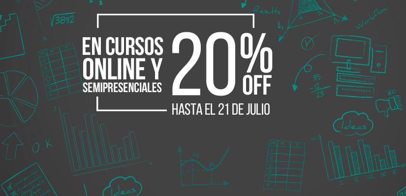 20% OFF en cursos online y semipresenciales