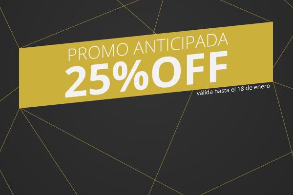 Promo Anticipada 25%OFF
