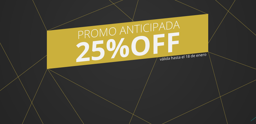 Promo Anticipada 25%OFF
